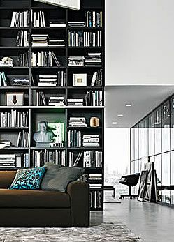 poliform wall system library. | organize. | Pinterest | Library wall ...