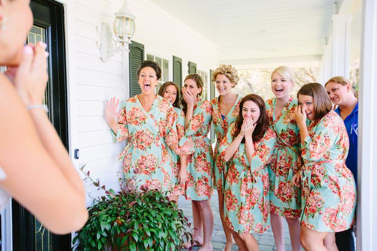 Dress Reveal With Bridesmaids