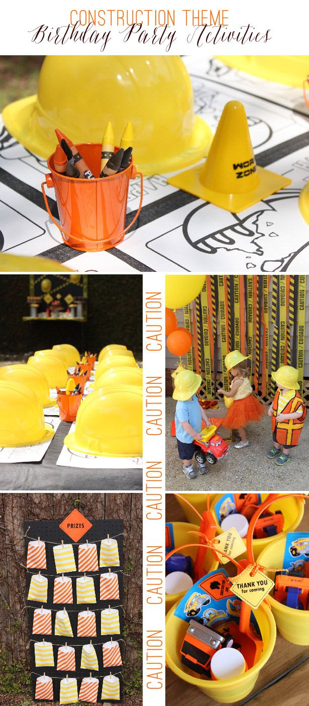 Construction Theme Birthday Party Giveaway Kindergeburtstag Kinder Geburtstag 2 Geburtstag