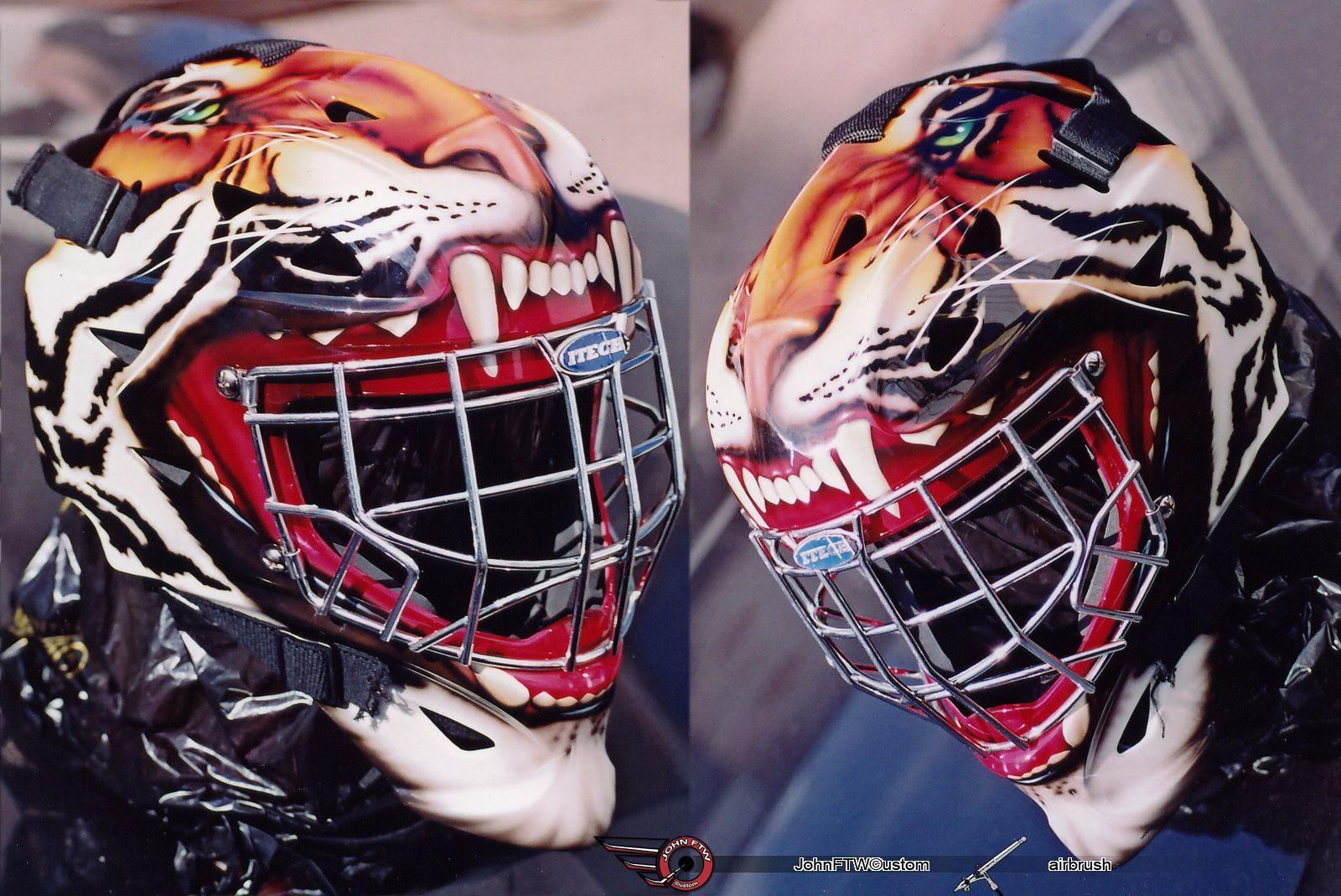 Mask Tiger By Johnftw Goalie Mask Hockey Helmet Goalie