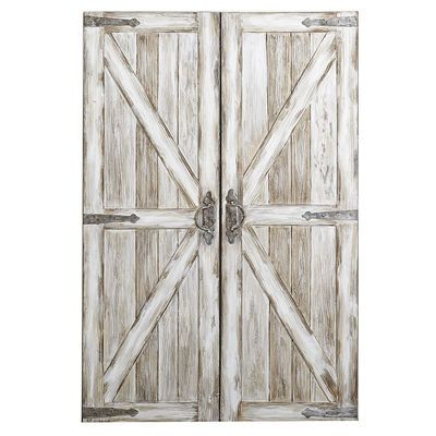 If You Live In A Rustic Setting, Better Give Friends A Heads Up That Our Wall  Art Is Merely A Pair Of Faux Barn Doors. Build Something Similar To Put  Over ...