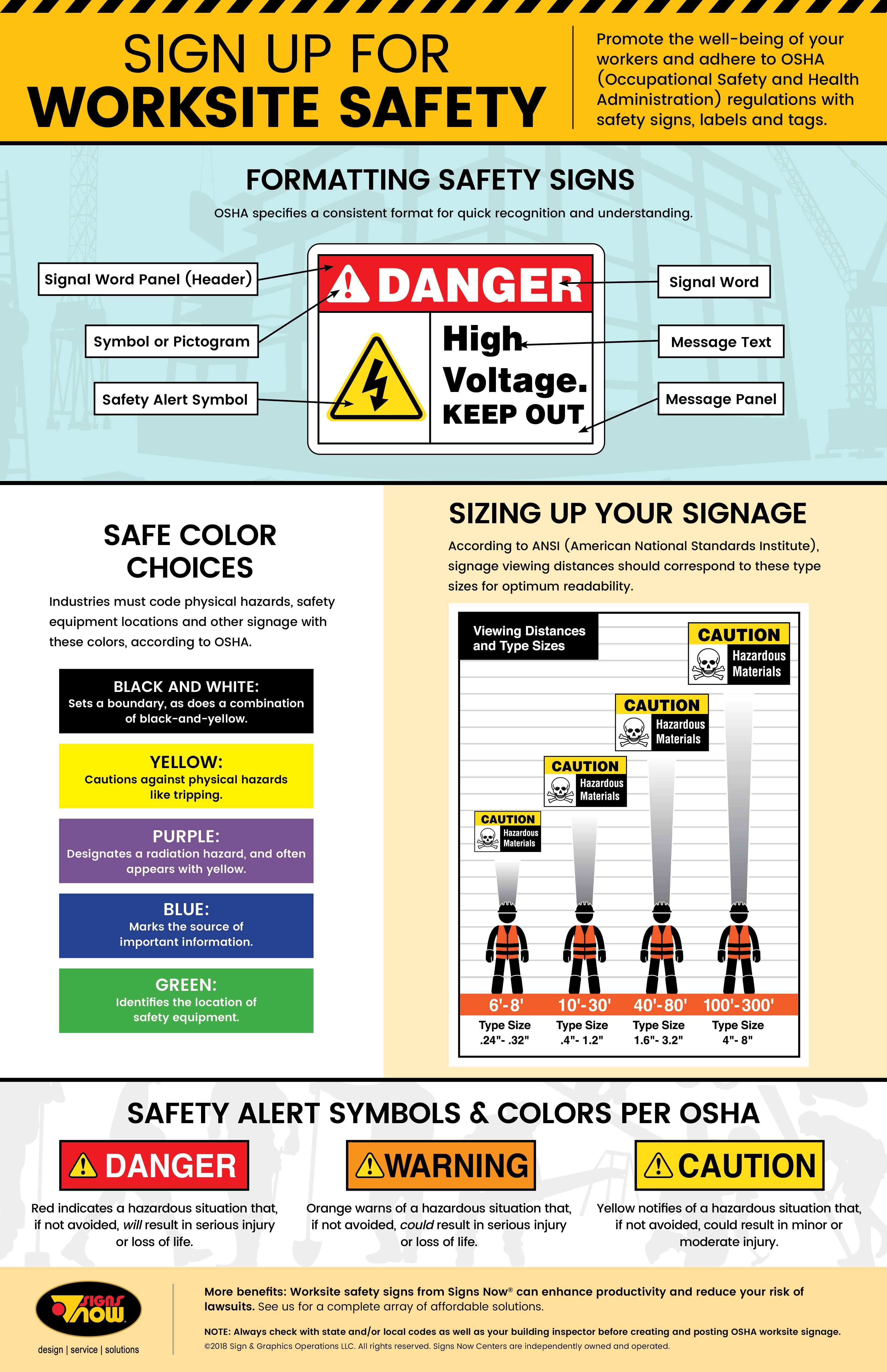 Infographic Sign Up For Work Site Safety