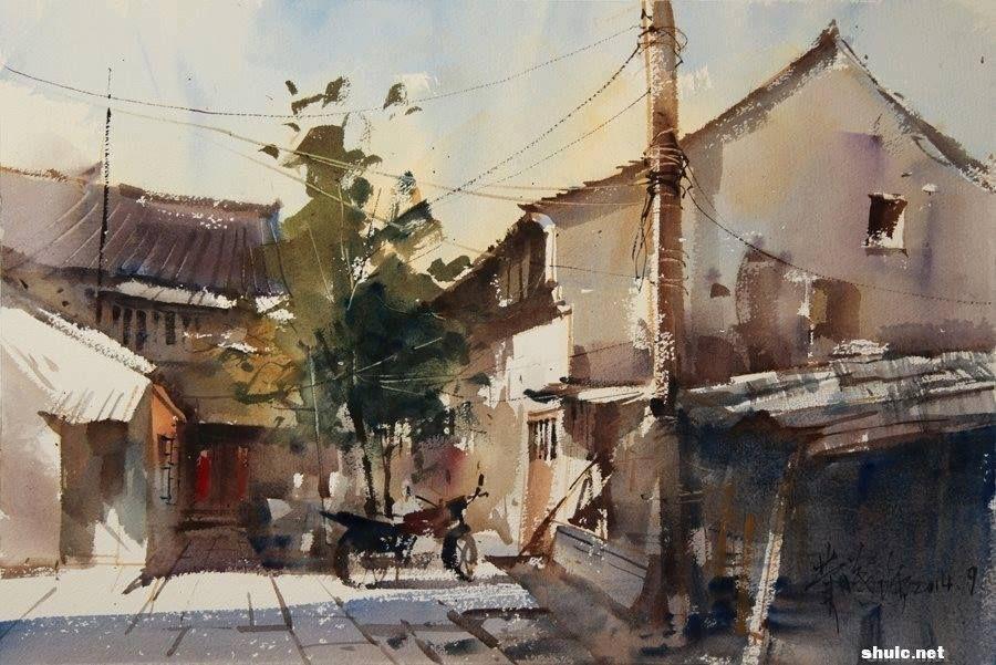 Fei Xiqiang Watercolor Artists Watercolor Art