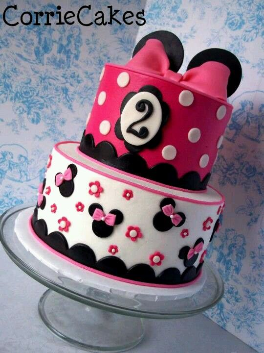 Minnie Cake For My Baby Girl S 2nd Bday With Images Minnie