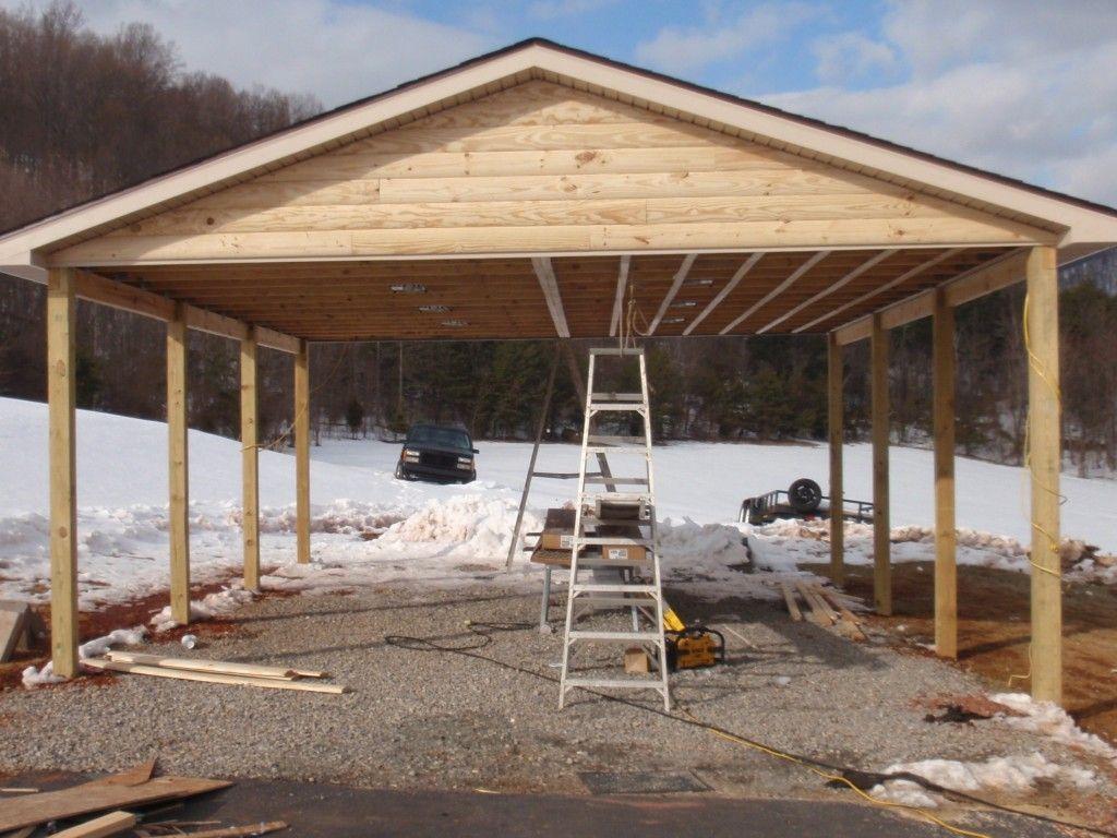 26 X 26 Log Siding And Vinyl Carport To Match Home Timber Frame