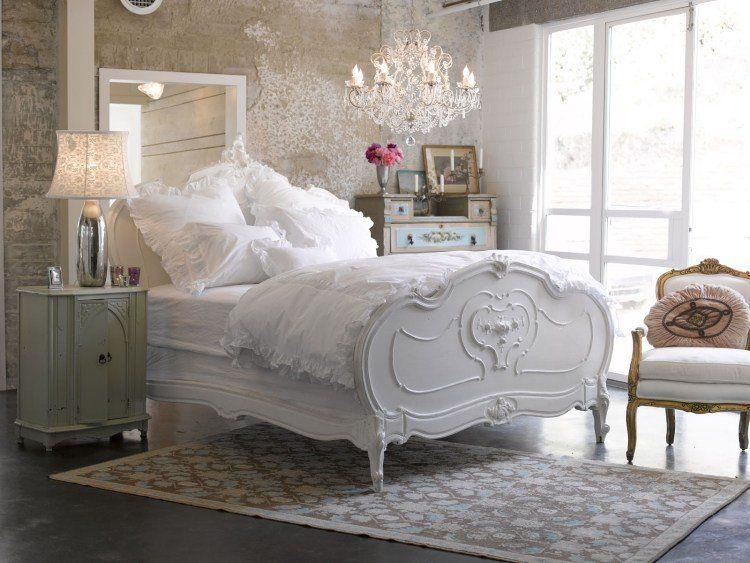 Chambre à coucher de style shabby chic en 55 idées | Shabby chic ...