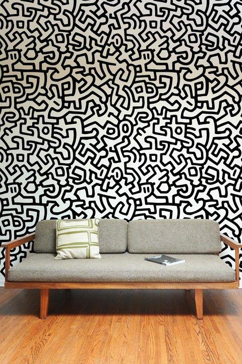 Adesivi Murali Keith Haring.Diy Fashion Accessories Arredamento Pop Art Arredamento Creativo E Piastrelle Da Parete