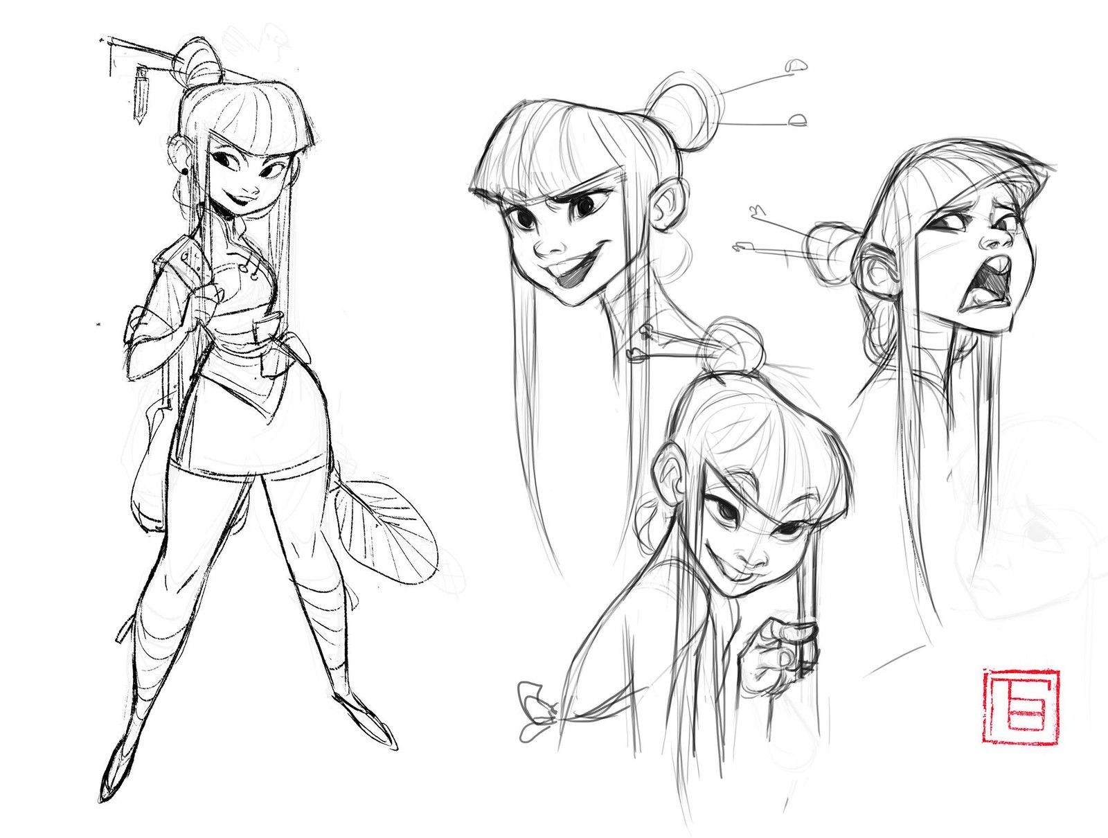Animation character design artists : Expression doodle tb choi on artstation at