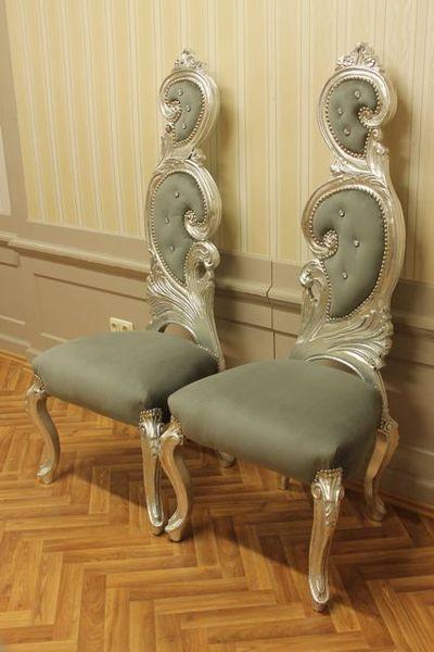 Barock Paar Prunkstuhle Thron Silber Antik Stil Al Von Wwwlouisxvde Auf Dawanda Com Stuhle Haus Deko Barock