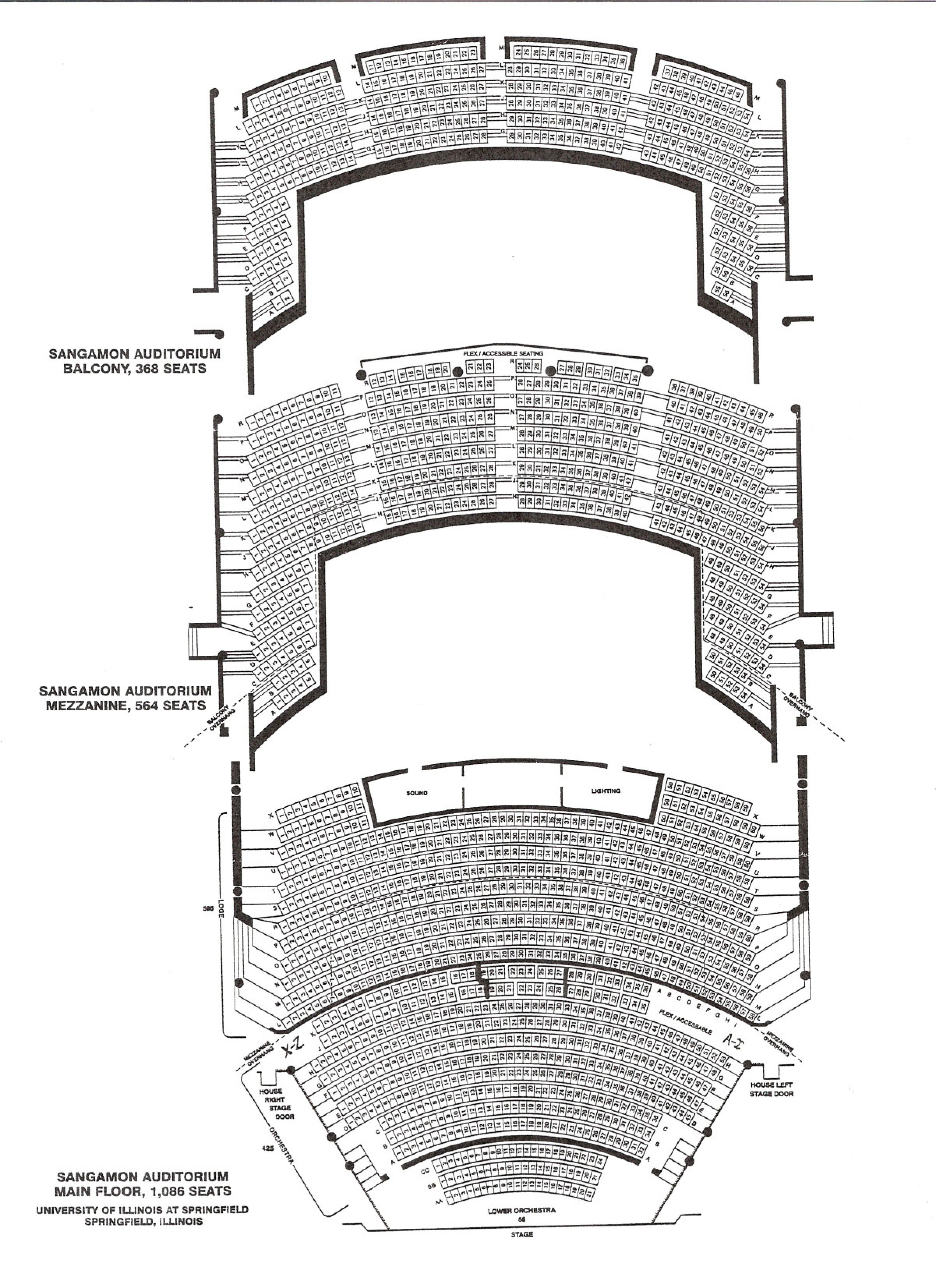 Sangamon Auditorium Seating Chart
