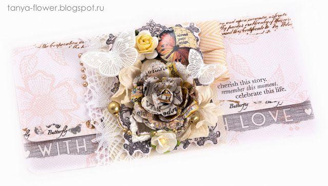 Tanya Flower: Подарочный конверт Morning Star - Beige. Galeria Papiery