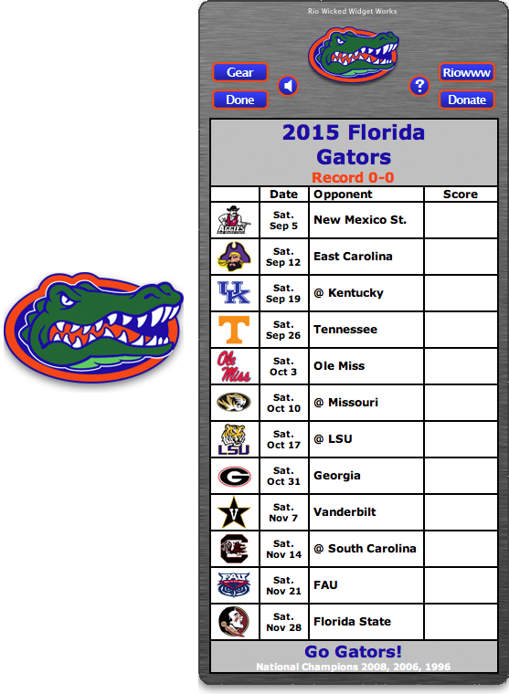 2020 Florida Gators Football Schedule Pin by Heather Young on Go Gators | Florida gators football, Gator