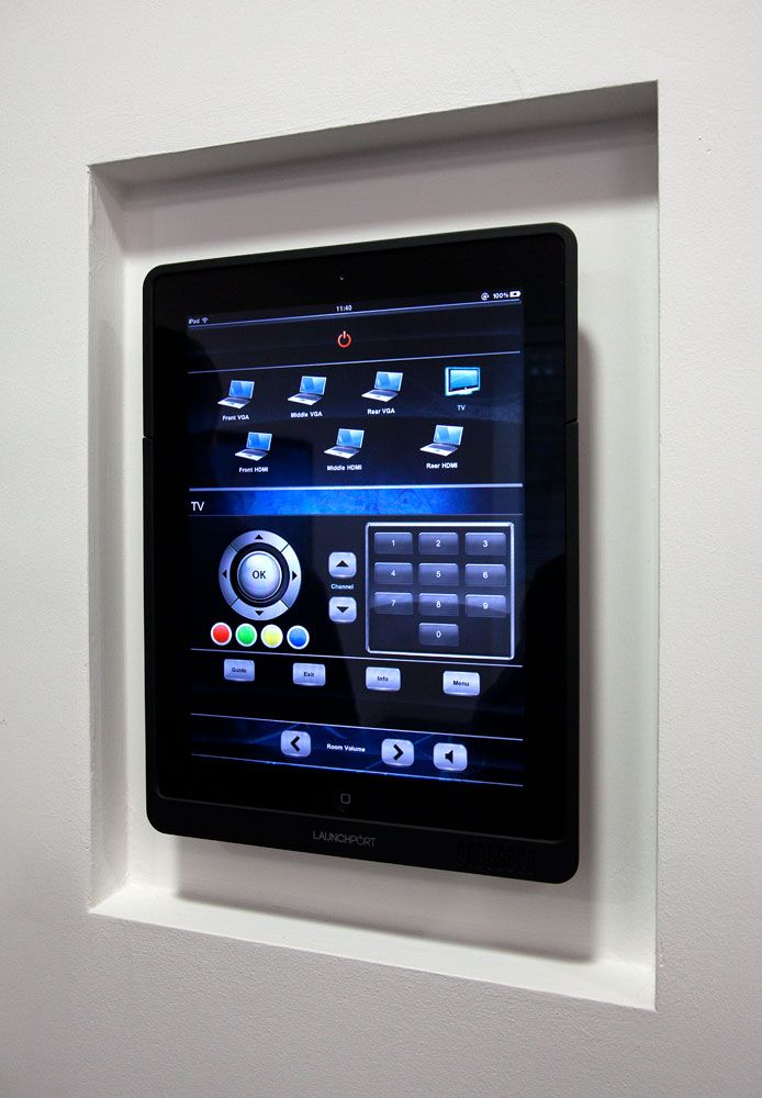 wall mounted ipad to control all av devises in any room on wall mount id=98034