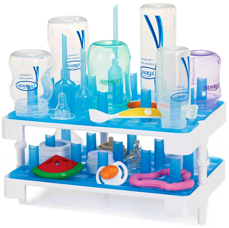 Brown S Drying Rack Dual Trays For Collection Or Drainage Of Water Holds 12 Standard 8 Wide Neck Dr Bottles And Their Components