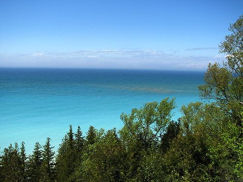 Peterson Park (view of Lake Michigan); Northport, MI