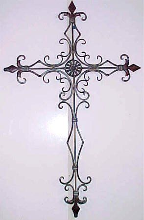 Perfect Wrought Iron Metal Cross Decorative Wall Hanging