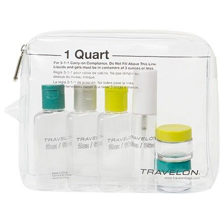 39da06576376 1 Qt Zip-Top Bag with Bottles | Travel | Travel size products ...