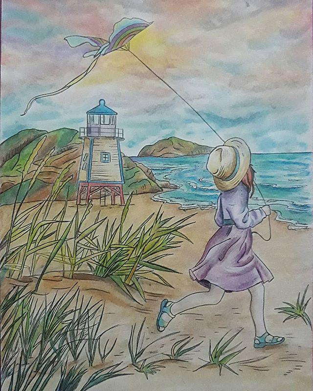Alecyma On Instagram Coloringbookcafe Lima Peru Colorear Coloring Alecymaart Kleur Strand Meisje Duinen Girl Dunes Playa Cafe Art Art Painting