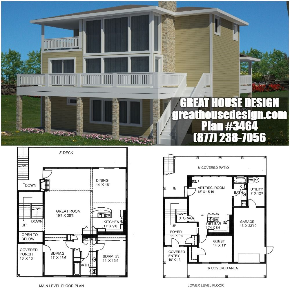 Contemporary Home Plan # 3464 Toll Free: (877) 238 7056