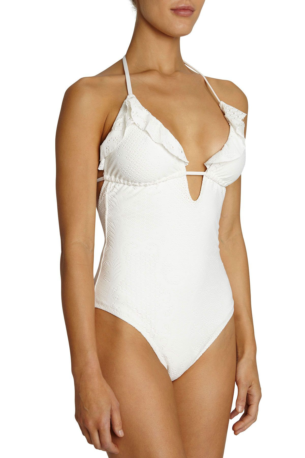 Eberjey Womens Playa Del Coco Waverly One Piece Swimsuit