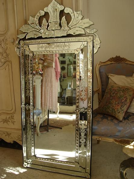 Large Venetian Style Mirror More