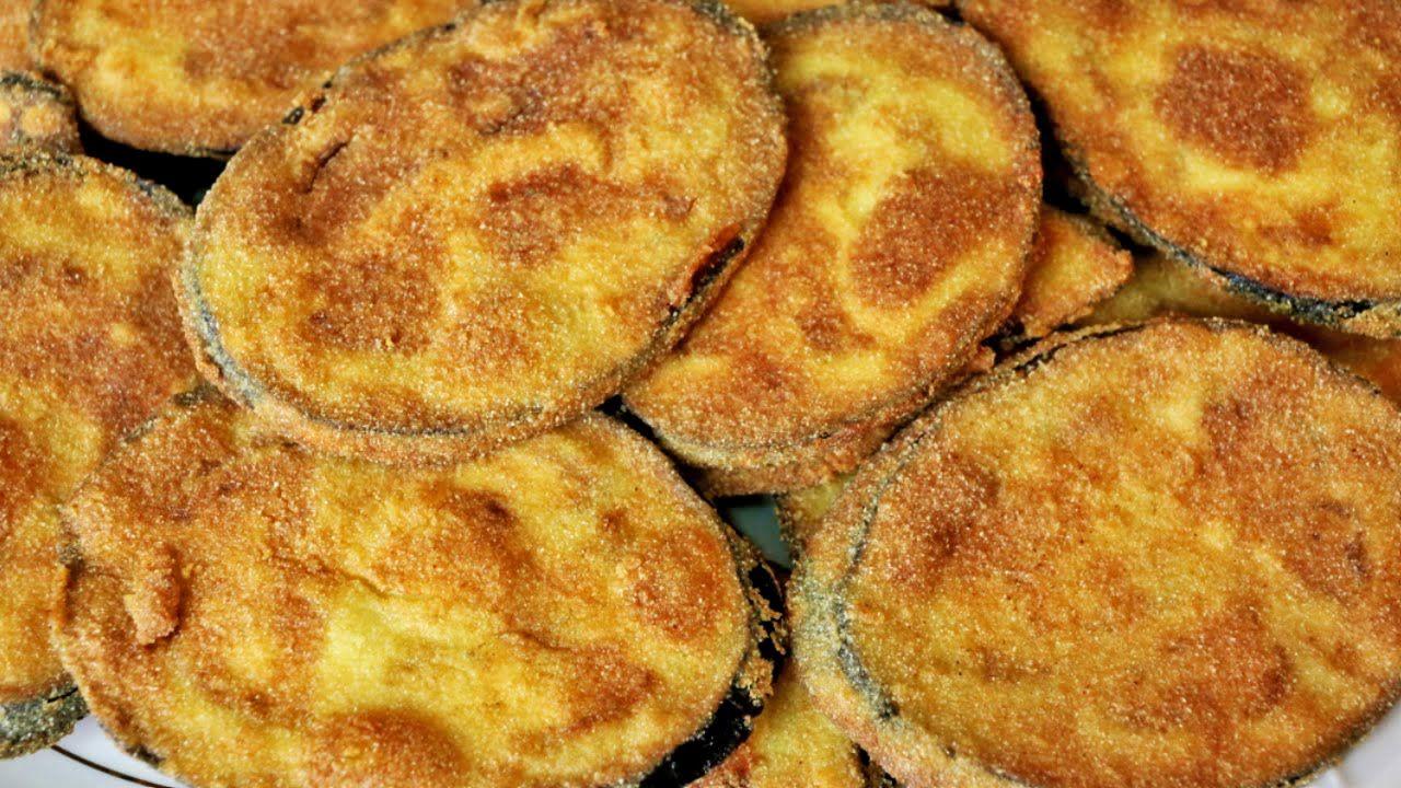 Resultado de imagen de berenjena frita en lonchas