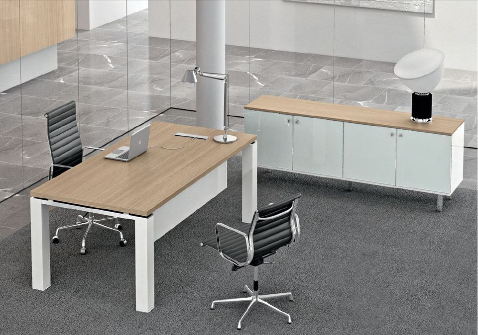 Schreibtisch JET EVO 180 x 100 Melamin Chefzimmer Chefbüro Design ...