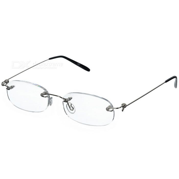 Frameless Alloy Support Reading Glasses with Hard Protective Case (+2.50D)