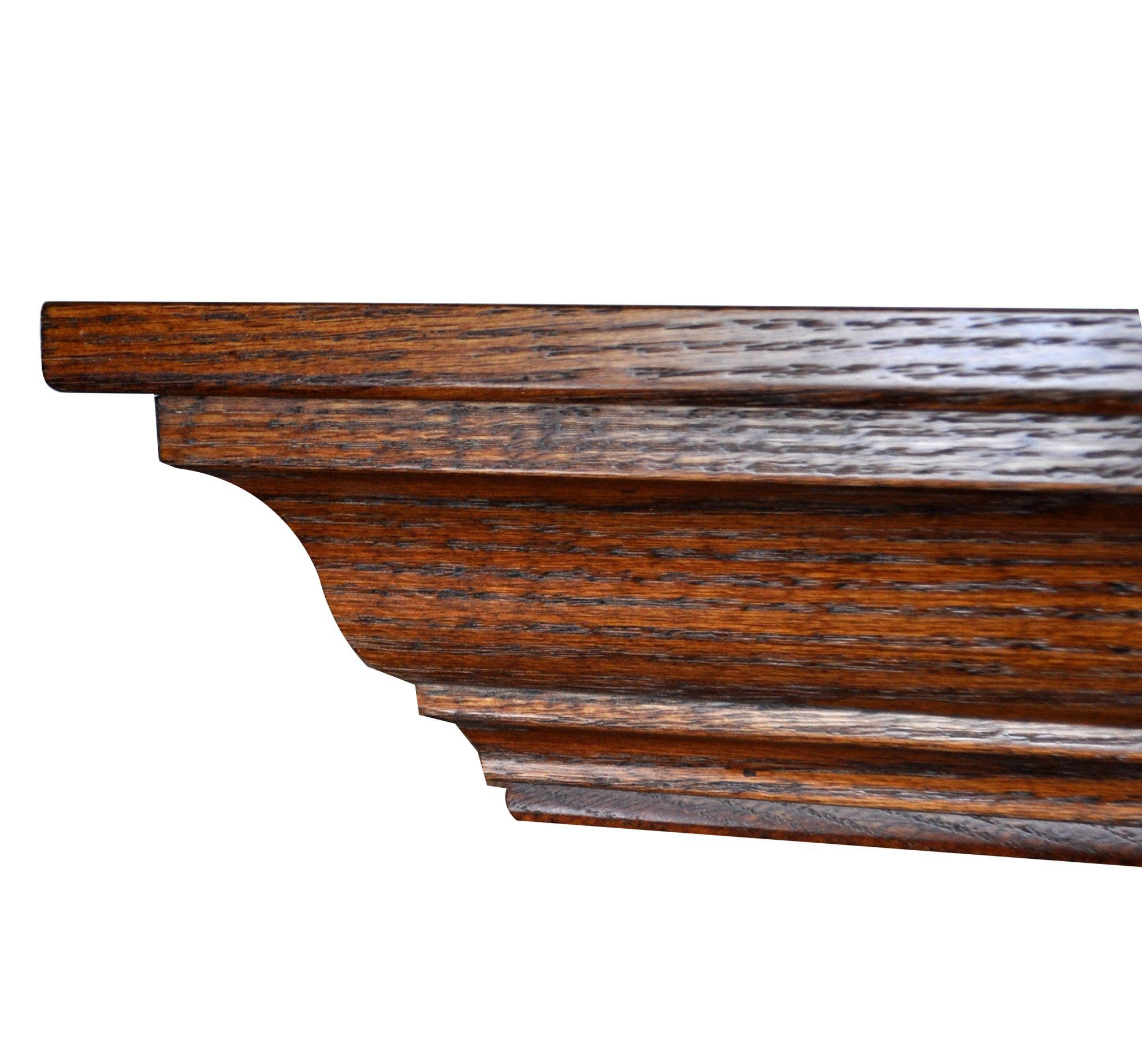 Hope Woodworking Wood Mantel Shelf Wall Mounted 48 L Oak Wood Michaels Stain Crown Amish Made Custom Available Mantel Shelf Wood Mantel Shelf Wooden Mantel