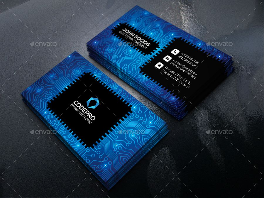Electronic Business Card Graphic Design Business Card Electronic Business Business Card Design Black