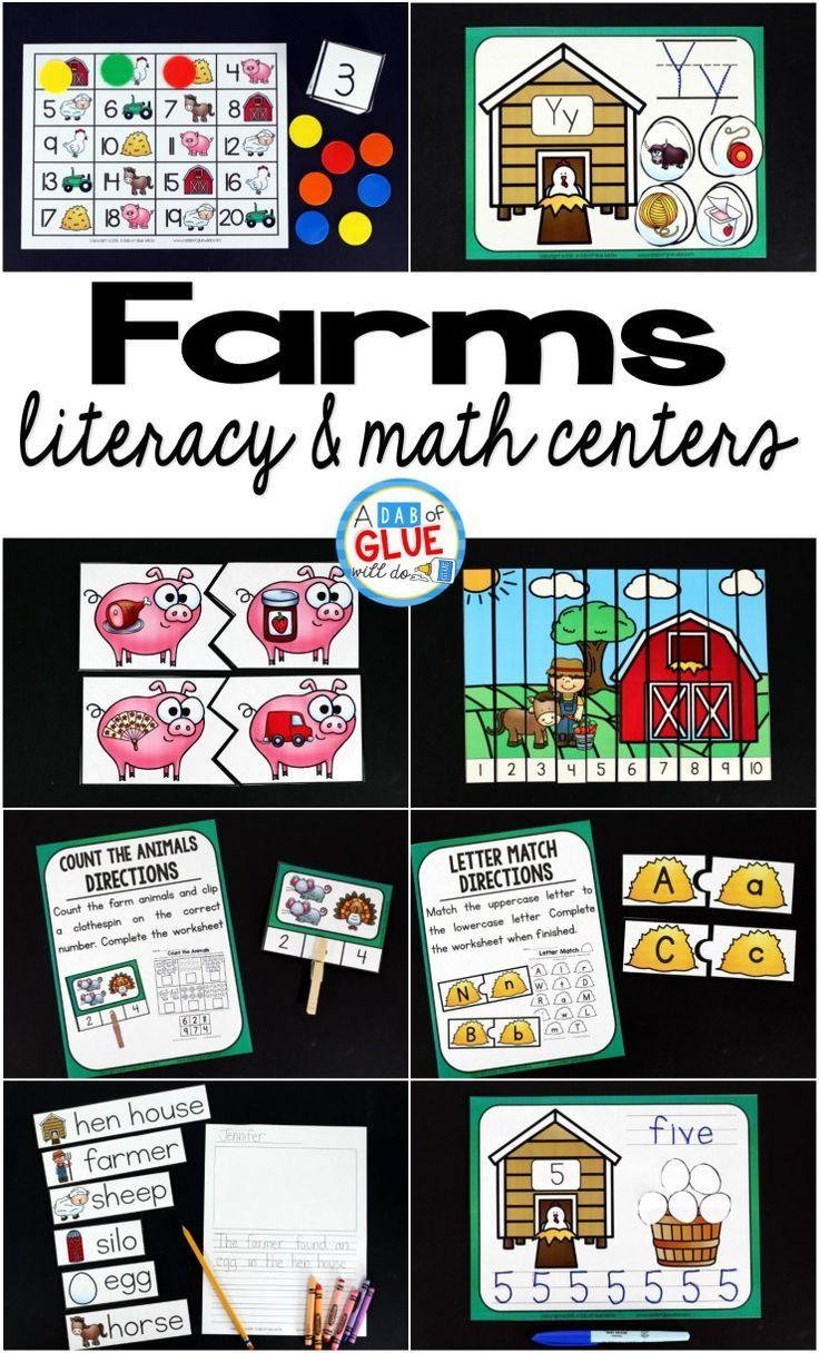 Farms Literacy And Math Centers Farm Theme Preschool Math Centers Farm Preschool [ 1216 x 736 Pixel ]