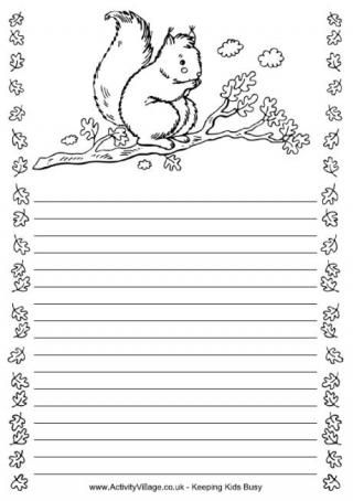 Squirrel Writing Frame grade 1 science Pinterest Squirrel