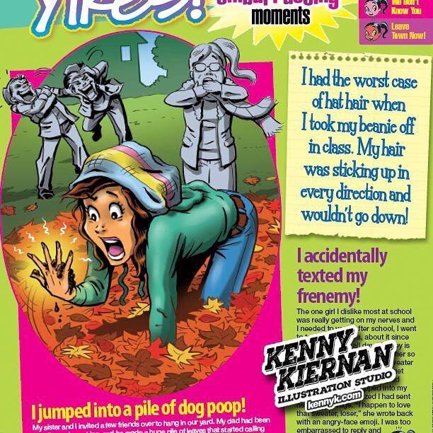 Teen magazine editorial illustration #illustration #childrensillustration #childrensillustrator #illustrator #editorialillustration #cartoon
