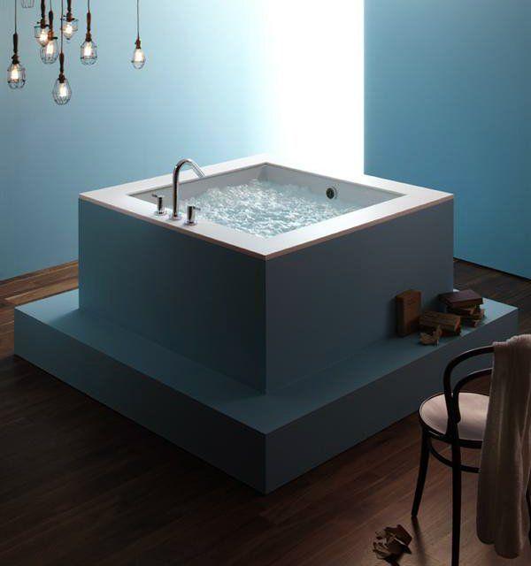 Underscore Cube Bath by Kohler $1595. Spacious shape accommodates up ...