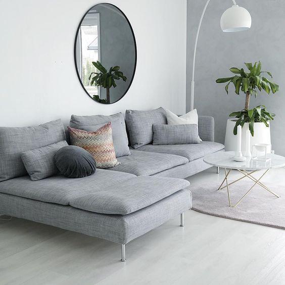 Déco salon gris - 88 super idées pleines de charme Salon, Canapés