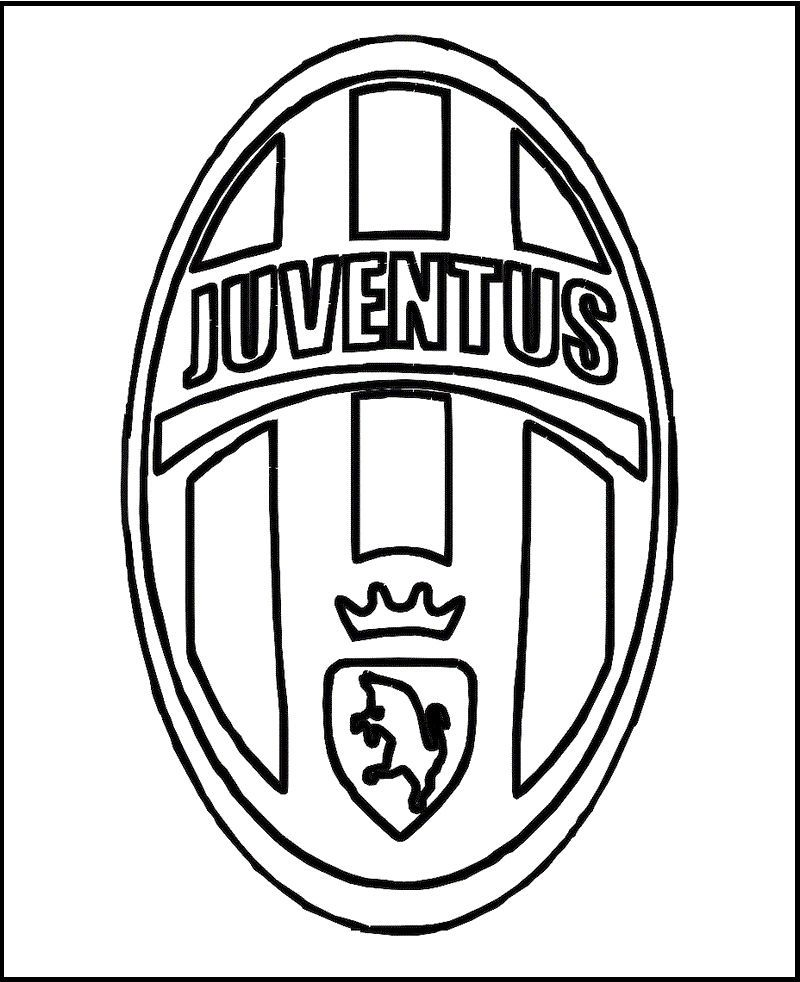 Juventus Soccer Club Coloring Logo Printable Page In 2020 Juventus Sports Coloring Pages Juventus Soccer