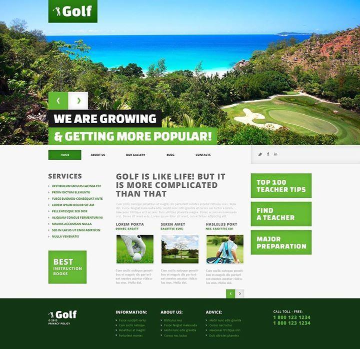 In love!!! Golf Responsive WordPress Theme CLICK HERE! live demo ...