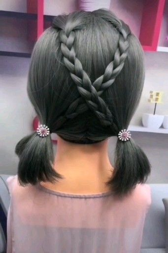 Cute And Easy Braided Hairstyle Braided Cute Easy Hairstyle Hairstyles Braided Hairstyles Easy Hair Styles Easy Hairstyles