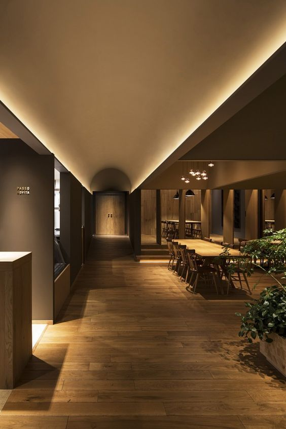 Passo Novita Oska Amp Partners Vaulted Ceiling Lighting Restaurant Lighting Restaurant