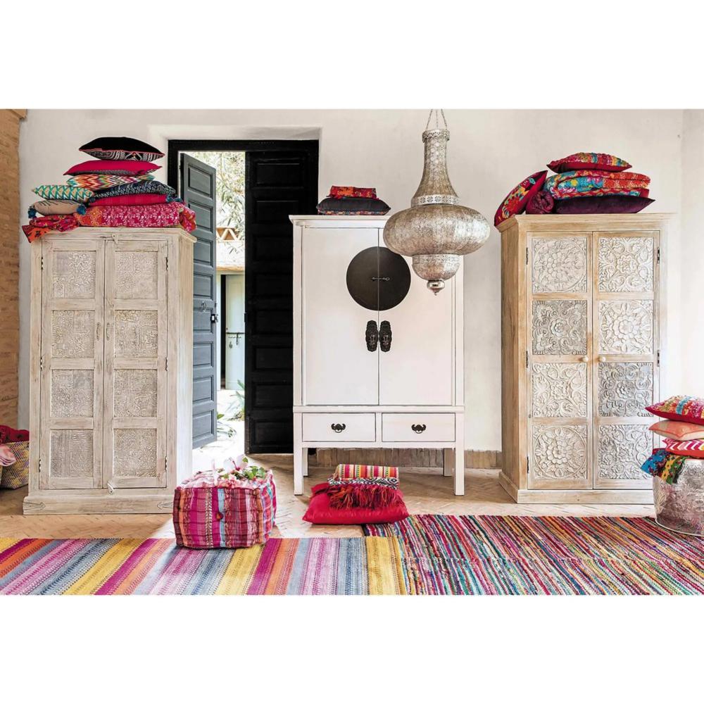 Tapis Tisse Jacquard Multicolore 140 X 200 Cm Maison Du Monde Tendances Deco Maison Deco Maison Du Monde