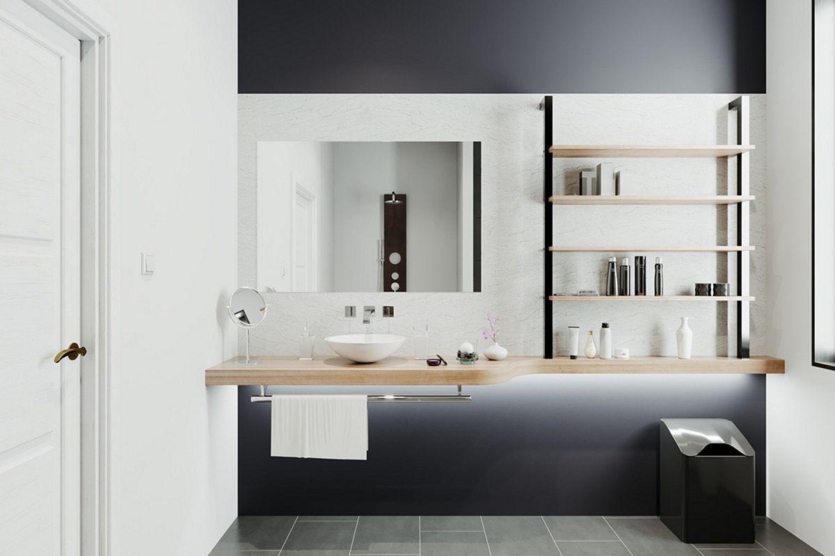 Top 20 Minimalist Bathroom Vanity Ideas For Small Bathroom Freshouz Com Modern White Bathroom Gray And White Bathroom Bathroom Vanity Designs