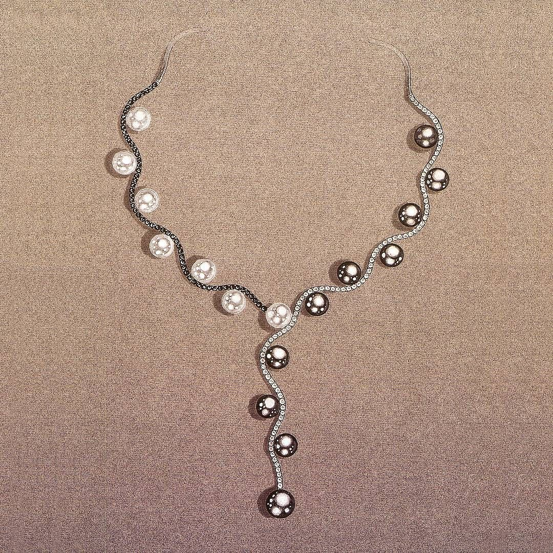 Necklace pearl sketch photo advise dress for everyday in 2019