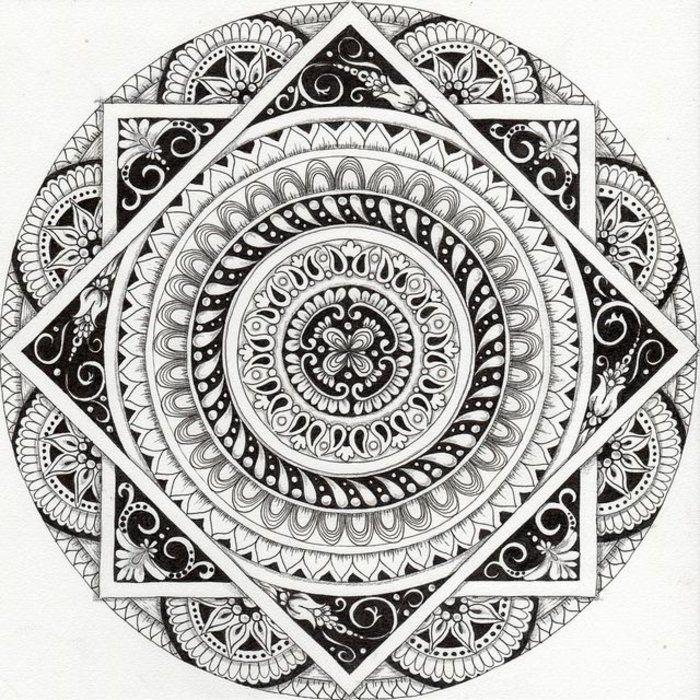 Mandalas zum Ausmalen für Fortgeschrittene, ein großer Kreis, zwei ...