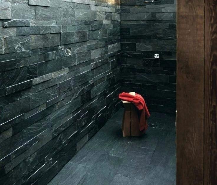 douche italienne ardoise mosaique ardoise salle de bain la douche en ...