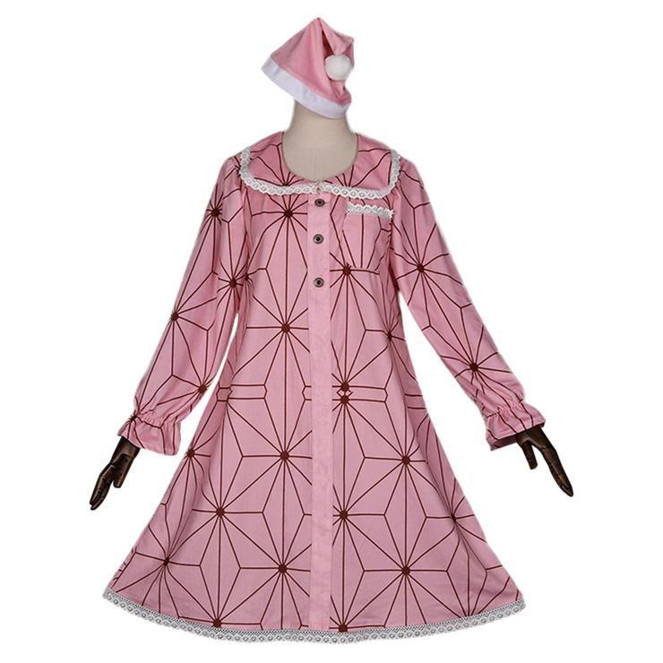 Demon Slayer Kamado Nezuko Cosplay Costume Pajamas Dress ...