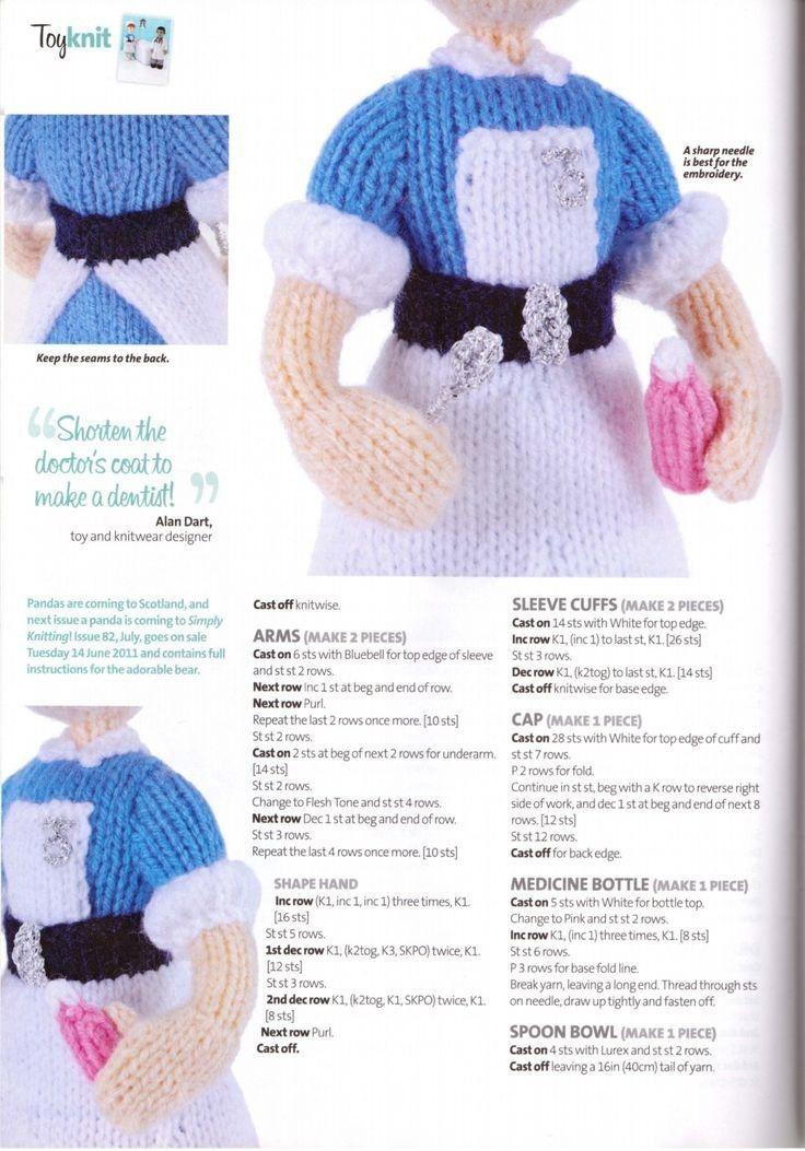 Pin de Laura García en Knitted dolls, ornaments, mini - Free ...