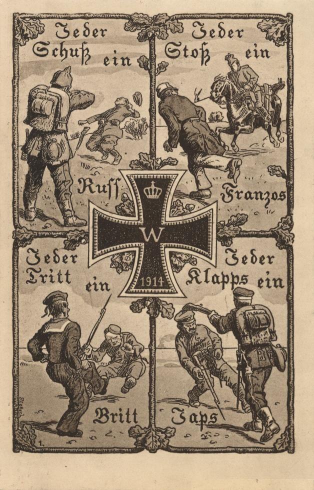 Немецкие открытки 1 мировой войны, днем рождения