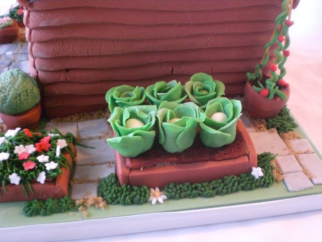 Shed cake garden veggie fruit basket cake Pinterest ...