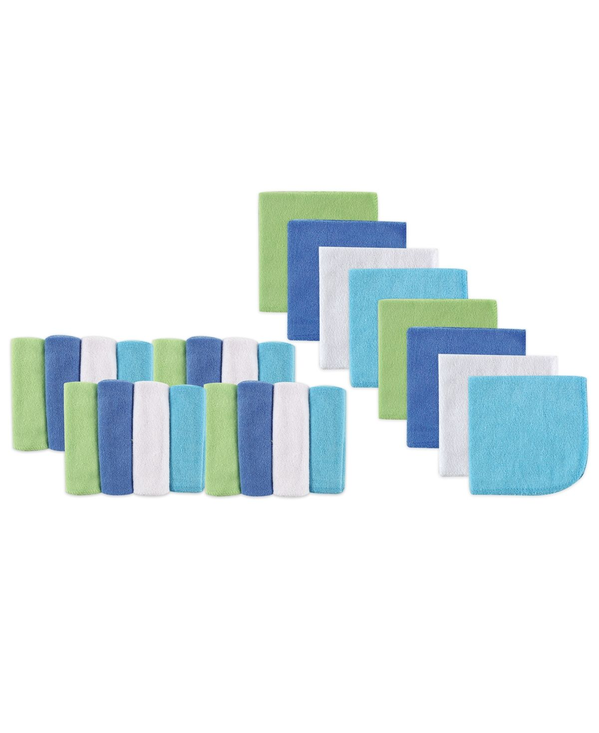 Luvable Friends Washcloths 24 Pack Blue One Size Reviews All Kids Accessories Kids Macy S Washing Clothes Baby Washcloth Baby Vision
