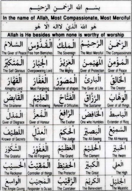 99 Names Of Allah Bangla Pdf